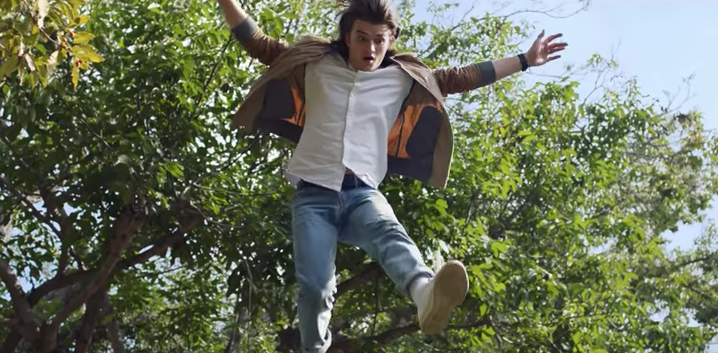 Joe Keery in 'Ferris Bueller's Day Off' homage ad for Domino's