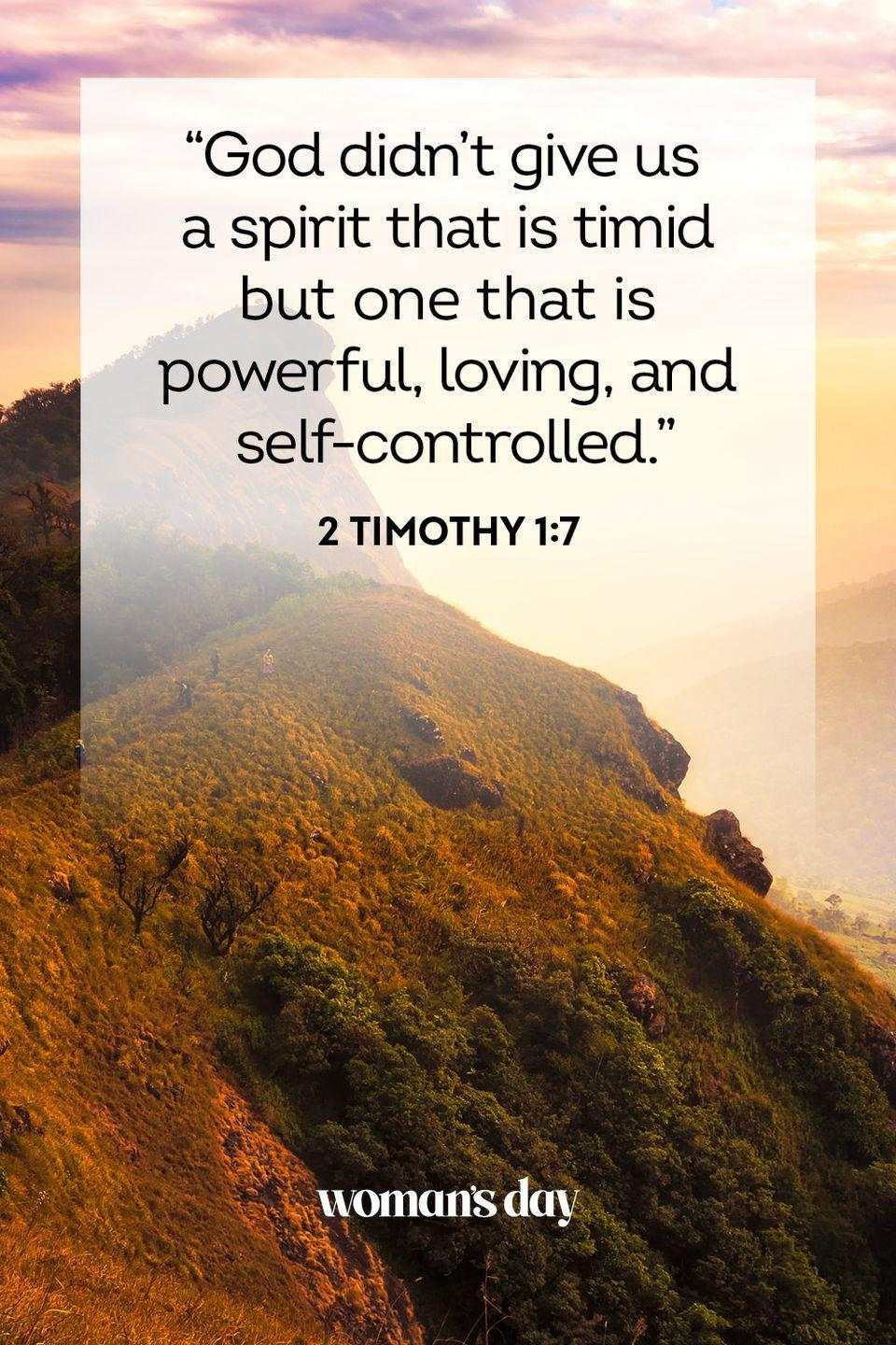"""<p>""""God didn't give us a spirit that is timid but one that is powerful, loving, and self-controlled.""""</p><p><strong>The Good News:</strong> For as much as you worry, you're not actually built for it. God wants you to love yourself and fear not.</p>"""