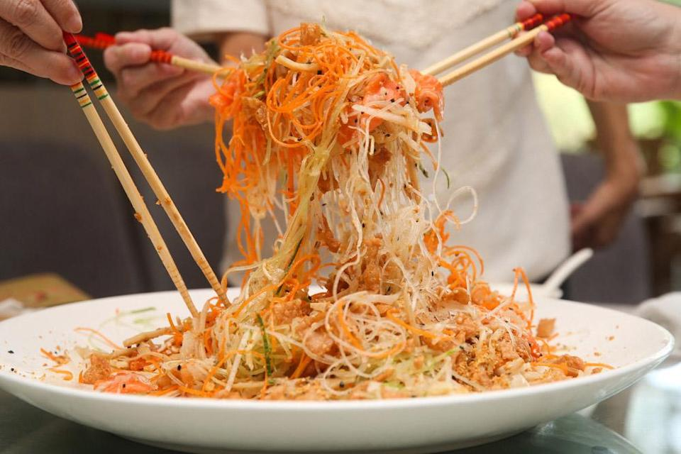 Despite the uncertainties, restaurants such as Elegant Inn Hong Kong Cuisine are hopeful that customers can enjoy the customary 'lou sang' for Chinese New Year. — Picture by Choo Choy May