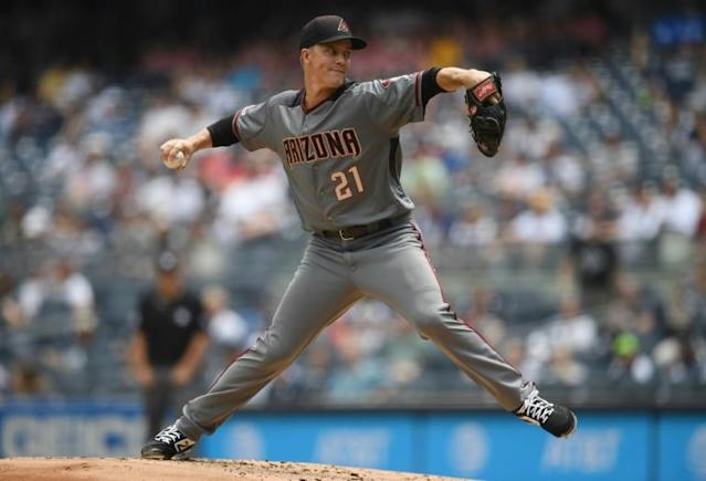 Arizona ace Zack Greinke is headed to the Houston Astros in a blockbuster deal agreed before Major League Baseball's trade deadline closed (AFP Photo/Sarah Stier)