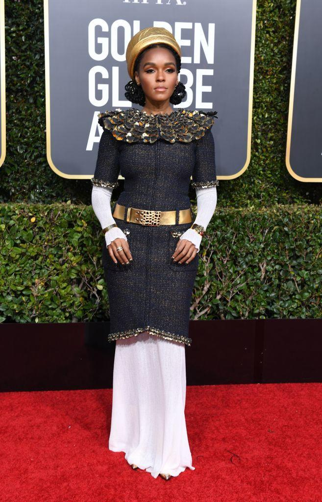 <p>Singer and actress Janelle Monae, who currently stars in Welcome to Marwen, attends the 76th Annual Golden Globe Awards at the Beverly Hilton Hotel in Beverly Hills, Calif., on Jan. 6, 2019. (Photo: Getty Images) </p>