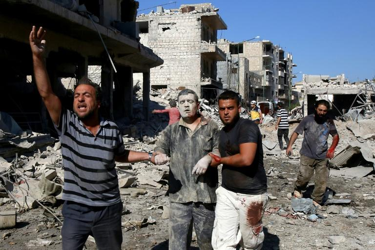 Twenty-three people were killed and 45 wounded in Russian air strikes on a market in Maaret al-Numan in Syria's Idlib province
