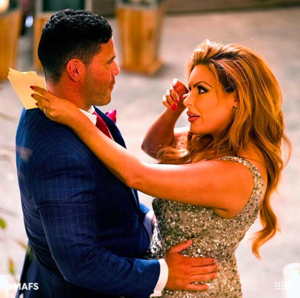 Sarah and Telv have officially split. Photo: Nine