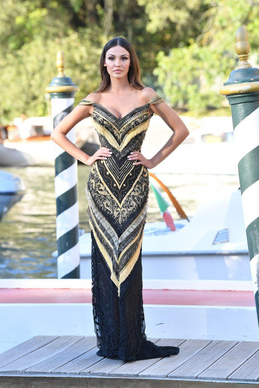 VENICE, ITALY - SEPTEMBER 01: Francesca Tizzano is seen arriving at the 78th Venice International Film Festival on September 01, 2021 in Venice, Italy. (Photo by Jacopo Raule/Getty Images)