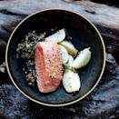 """Sometimes the simple things are best. Like this silky salmon served with simmered turnips sesame seeds, and wilted chard. <a href=""""https://www.epicurious.com/recipes/food/views/slow-cooked-salmon-with-turnips-and-swiss-chard-51235910?mbid=synd_yahoo_rss"""" rel=""""nofollow noopener"""" target=""""_blank"""" data-ylk=""""slk:See recipe."""" class=""""link rapid-noclick-resp"""">See recipe.</a>"""