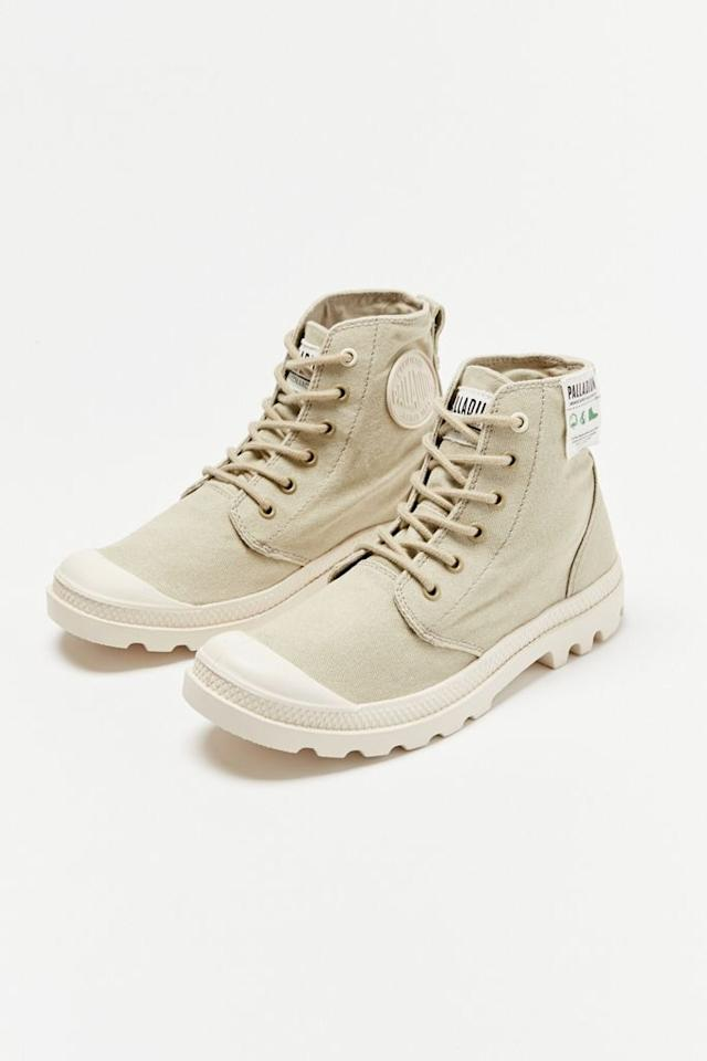 """<p><strong>Palladium</strong></p><p>urbanoutfitters.com</p><p><strong>$80.00</strong></p><p><a href=""""https://go.redirectingat.com?id=74968X1596630&url=https%3A%2F%2Fwww.urbanoutfitters.com%2Fshop%2Fpalladium-earth-collection-pampa-hi-organic-boot&sref=https%3A%2F%2Fwww.marieclaire.com%2Ffashion%2Fg4774%2Fsummer-boots%2F"""" target=""""_blank"""">Shop Now</a></p><p>Don't mess with a classic! These Palladium canvas desert boot were designed to be lightweight and breathable in all elements. Try them out in the Palladium Earth organic cotton version with a head-to-toe monochromatic linen look this summer.</p>"""