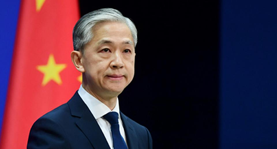 Wang Wenbin has hit out at foreign interference over internal matters. Source: FMPRC