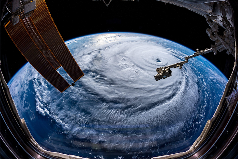 Hurricane Florence from space: