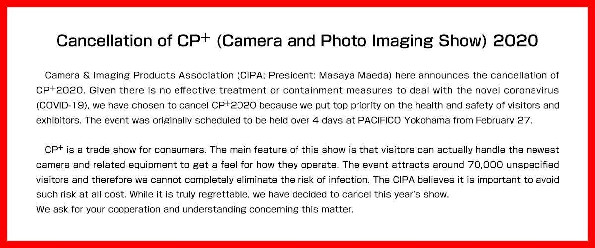 cp+ 2020 cancellation