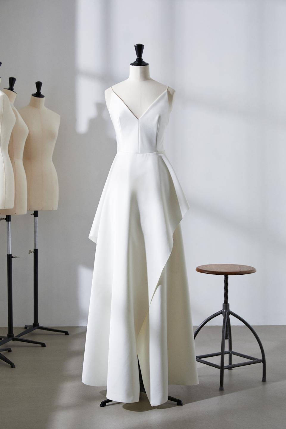 A first look collection showcases two wedding dresses available to rent. [Photo: H&M]