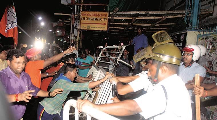 Bengal simmers after BJP and TMC clash during Shah s Kolkata roadshow
