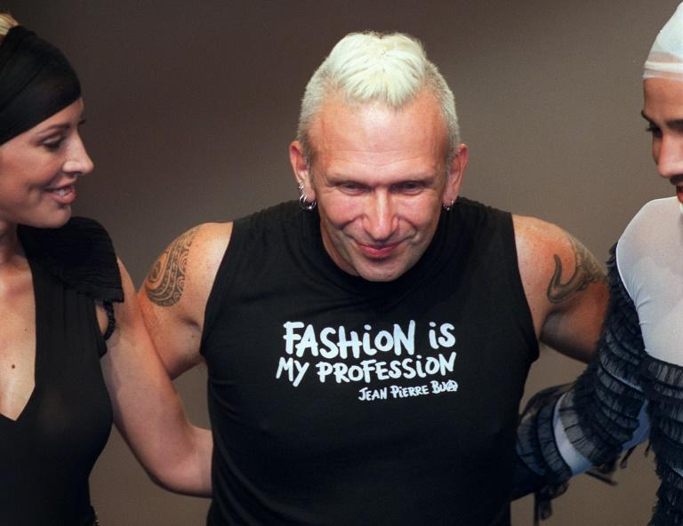 """Gaultier, pictured in 2002, had also carved out a cult following as a presenter of the late-night 1990s television show """"Eurotrash"""" (AFP Photo/PIERRE VERDY)"""