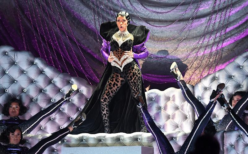 US rapper Cardi B performs at the Grammys -- she made history by becoming the first woman to win the prize for Best Rap Album (AFP Photo/Robyn Beck)
