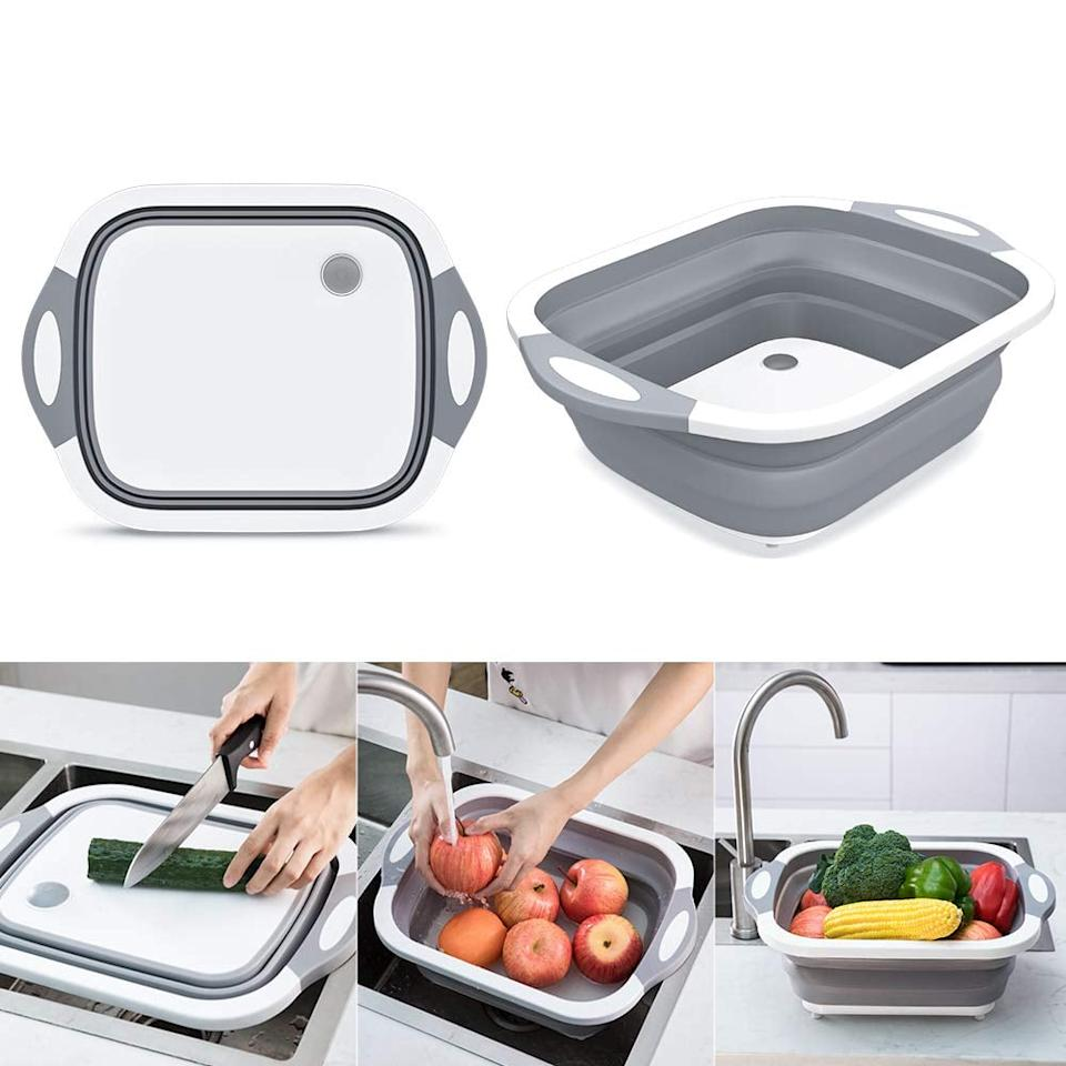 """<p>You can use this <a href=""""https://www.popsugar.com/buy/Collapsible-Chop-Strain-Cutting-Board-541764?p_name=%20Collapsible%20Chop%20and%20Strain%20Cutting%20Board&retailer=amazon.com&pid=541764&price=19&evar1=casa%3Aus&evar9=47128485&evar98=https%3A%2F%2Fwww.popsugar.com%2Fhome%2Fphoto-gallery%2F47128485%2Fimage%2F47128522%2FCollapsible-Chop-Strain-Cutting-Board&list1=shopping%2Cgadgets%2Ckitchen%20tools%2Ckitchen%20accessories%2Chome%20shopping&prop13=api&pdata=1"""" rel=""""nofollow"""" data-shoppable-link=""""1"""" target=""""_blank"""" class=""""ga-track"""" data-ga-category=""""Related"""" data-ga-label=""""https://www.amazon.com/Collapsible-Colander-Vegetable-Container-Multifunctional/dp/B07VJL4Z3K/ref=sr_1_86?keywords=kitchen+gadgets&amp;qid=1579608261&amp;sr=8-86"""" data-ga-action=""""In-Line Links""""> Collapsible Chop and Strain Cutting Board </a> ($19) so many ways.</p>"""