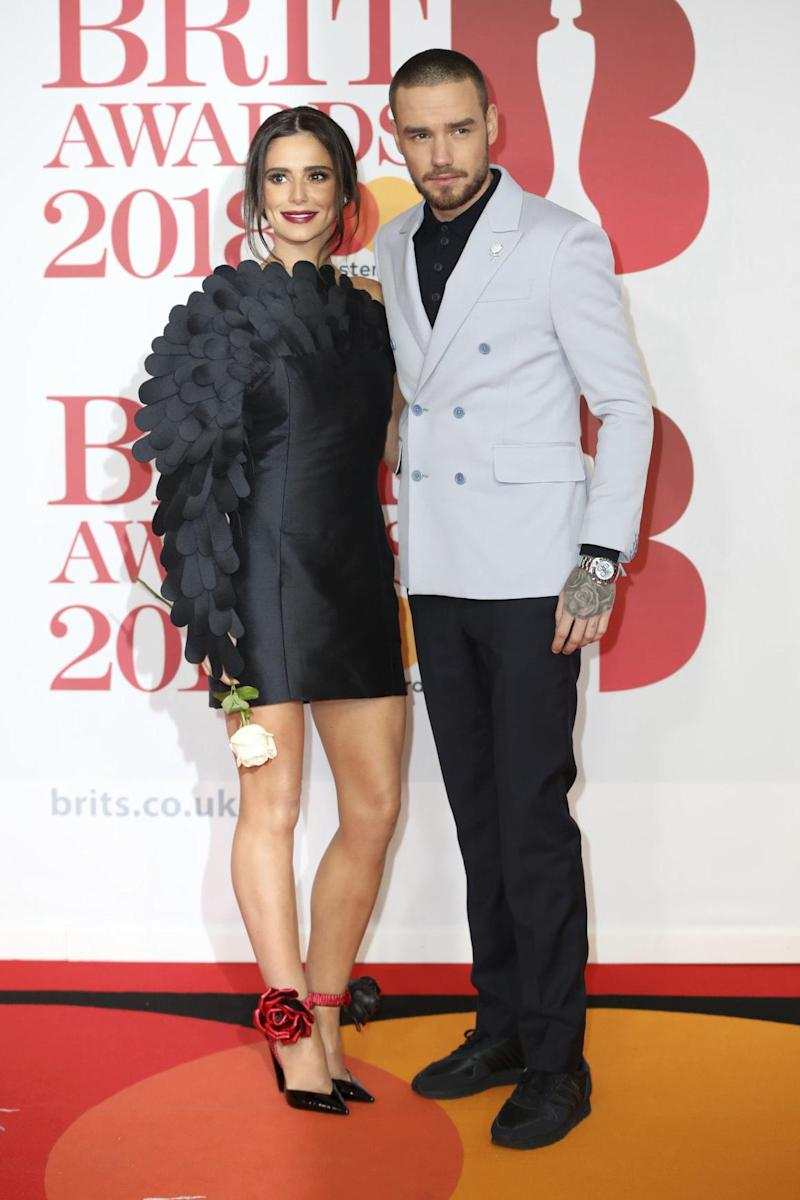Still together: Cheryl and Liam Payne on the BRIT Awards red carpet (AP/Vianney Le Caer)