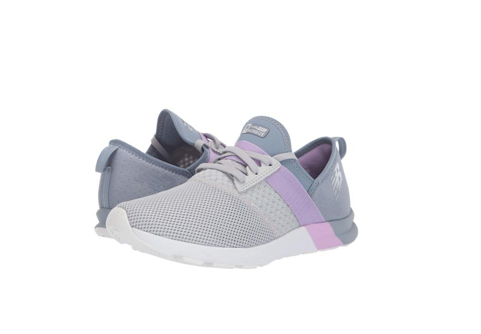 """<p><strong>New Balance</strong></p><p>amazon.com</p><p><strong>$52.78</strong></p><p><a href=""""https://www.amazon.com/New-Balance-FuelCore-Nergize-Training/dp/B005ATNLF2?tag=syn-yahoo-20&ascsubtag=%5Bartid%7C2141.g.22749024%5Bsrc%7Cyahoo-us"""" rel=""""nofollow noopener"""" target=""""_blank"""" data-ylk=""""slk:SHOP NOW"""" class=""""link rapid-noclick-resp"""">SHOP NOW</a></p><p>These performance-inspired shoes provide a snug fit to ensure your feet are protected throughout high-intensity movements. It has a cushioned midsole, as well as New Balance's signature sole comfort insert for extra support. The lace-up closure allows you to move freely without ever worrying about your laces being untied, while the elastic band offers added flex. They're also <strong>available in medium and wide width sizes to accommodate all foot shapes</strong>.</p><p> One customer with <a href=""""https://www.prevention.com/beauty/style/g19599046/best-shoes-for-bunions/"""" rel=""""nofollow noopener"""" target=""""_blank"""" data-ylk=""""slk:bunions"""" class=""""link rapid-noclick-resp"""">bunions</a> says these shoes are her go-to: """"I have a lot of trouble finding comfortable shoes because of my bunions. These are great! The cloth upper flexes nicely and the cushioned soles feel great.""""</p>"""