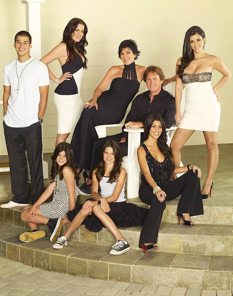 "<b>Get a Reality Show:</b> Kim quickly stole the spotlight from the rest of her clan on the E! hit ""Keeping Up With the Kardashians"" when it debuted in 2007. Audiences watched her pose for <i>Playboy</i> (with mom's encouragement), film a visit to ""The Tyra Banks Show,"" and juggle the busy schedule of a celebutante. Along for the ride were her sisters Kourtney, Khloe, Kendall, and Kylie, her brother Rob, her mom Kris Jenner, and stepfather (and dad to Brody Jenner of ""The Hills"") Bruce Jenner. ©E! Networks"
