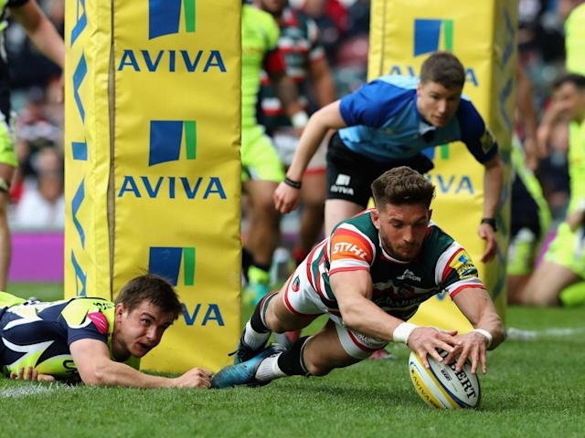 Owen Williams dots the ball down for a try (Getty)
