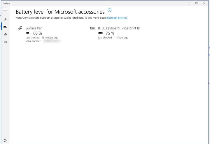 microsoft adds battery level to surface app micrososft life update