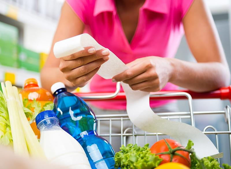 easy cheap ways to lose pounds grocery store receipt