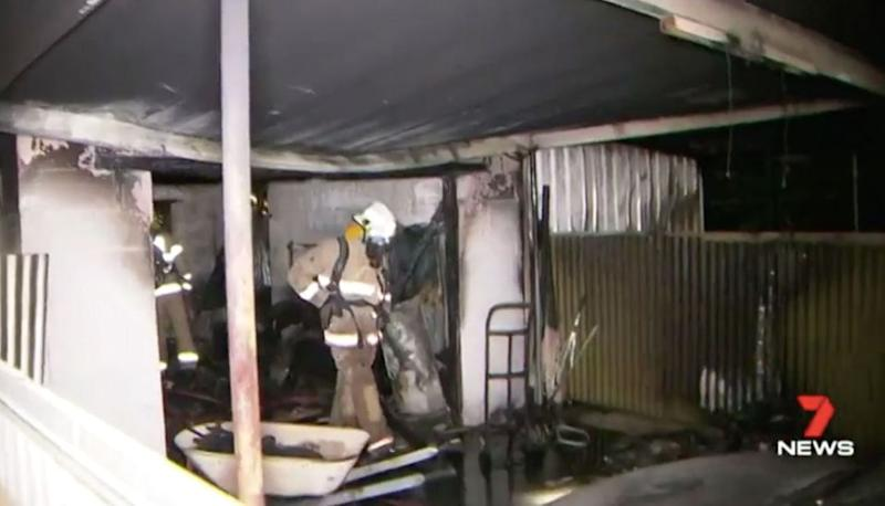 The shed fire cost $25,000 in damage. Source: 7 News