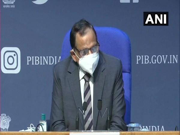 Dr VK Paul, Member (Health), NITI Aayog during a press conference in New Delhi on Tuesday. (Photo/ANI)