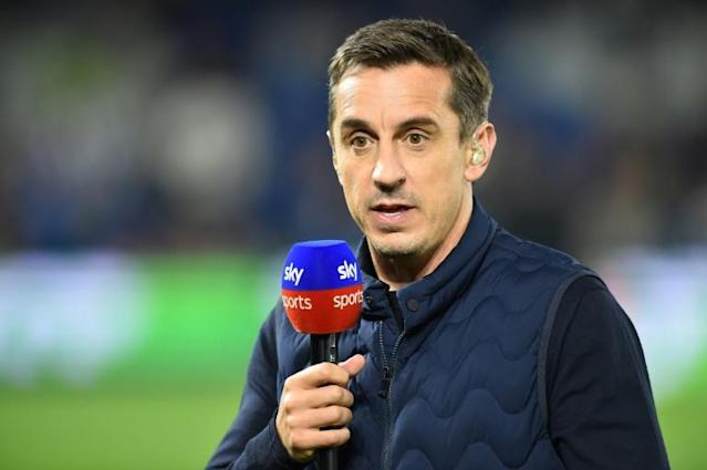 Gary Neville says Premier League clubs are scared to publicly back a return to action (AFP Photo/Glyn KIRK )