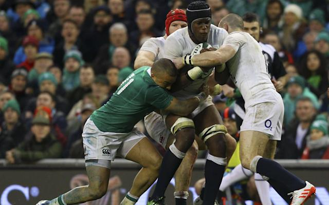 England found the going tough against Ireland - Copyright (c) 2017 Rex Features. No use without permission.