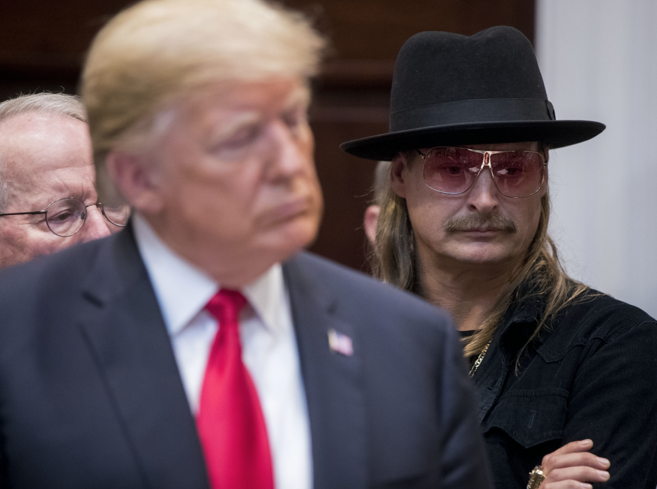 Kid Rock previously met up with President Trump at the White House in October 2018. (Photo: Andrew Harrer/Bloomberg)