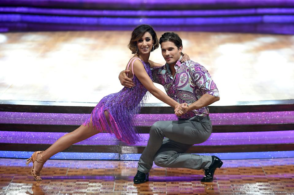 Anita Rani with partner Gleb Savchenko pose for a photo during the Strictly Come Dancing Live Tour 2016 photocall at The Barclaycard Arena, Birmingham. PRESS ASSOCIATION Photo. Picture date: Thursday January 21, 2016. Photo credit should read: Joe Giddens/PA Wire