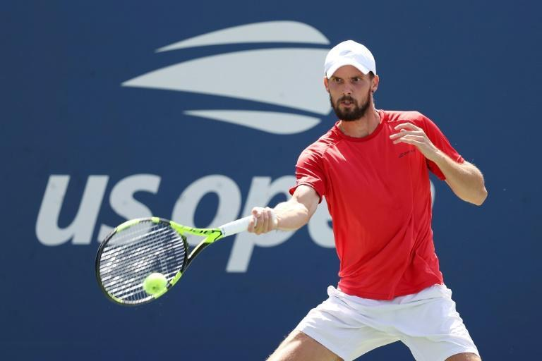 Germany's Oscar Otte is one of three qualifiers in the men's fourth round of the US Open, the most in any Grand Slam last 16 since 1995 (AFP/AL BELLO)