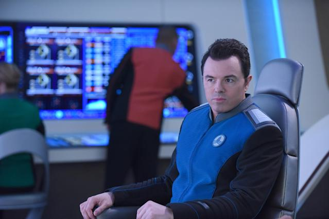 <p>Let's have the Orville engage in an intergalactic battle with a competing starship called the Redenbacher. During this conflict, Seth MacFarlane's character dies. — <em>KT</em><br><br>(Ray Mickshaw/FOX) </p>