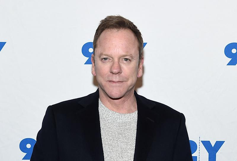 Kiefer Sutherland slams two Canadian politicians for using his famed grandfather's name to push their agendas. (Photo: Getty Images)