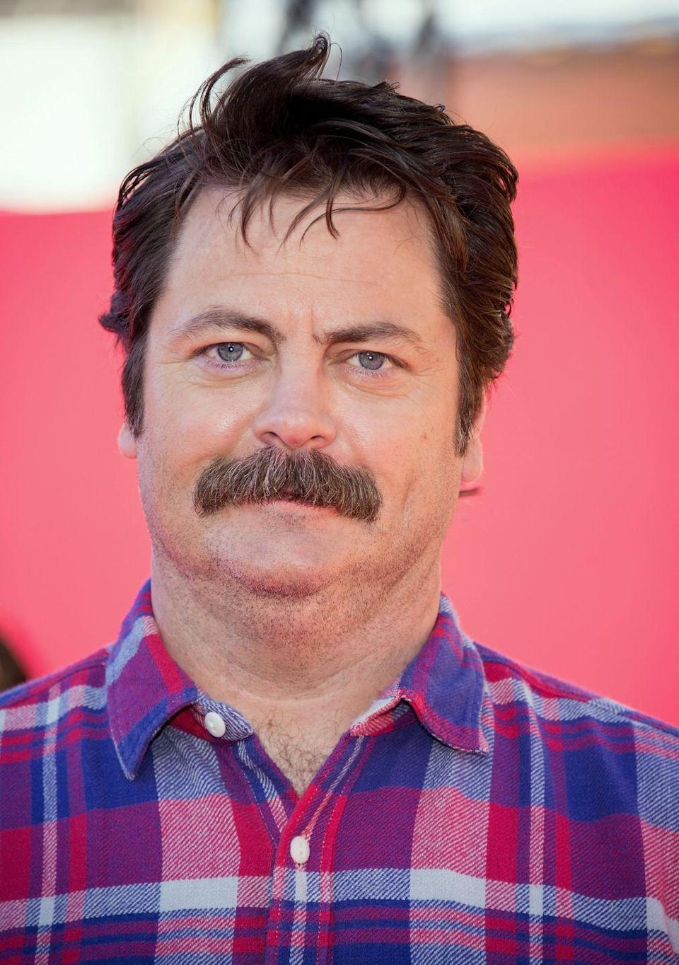 <p>NBC's <em>Parks and Recreation </em>star has cemented his place in mustache legend with his turn as the unforgettable Ron Swanson. The bristly mustache endures today, even though the show's run has ended.  </p>