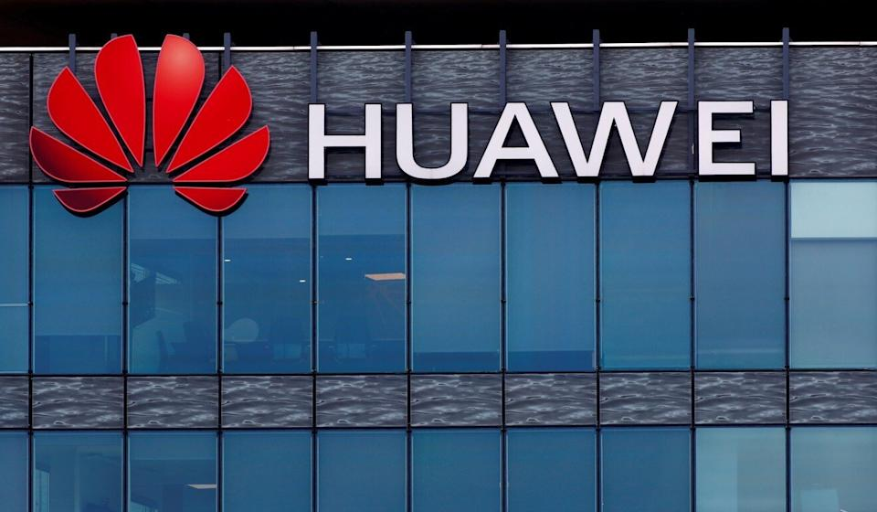 A Huawei logo seen on the building of Huawei Technologies in France. Photo: Reuters