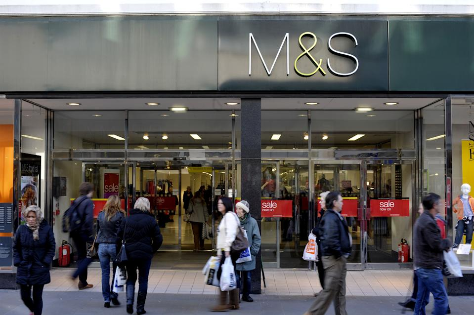 General view of a Marks and Spencer store in Swindon, Wiltshire as Marks & Spencer tonight revealed a bigger-than-expected slump in clothing sales over Christmas.