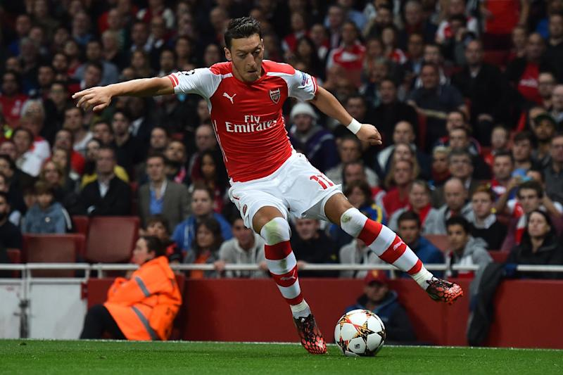 Arsenal midfielder Mesut Ozil pictured during the Champions League qualifying round play-off second-leg against Besiktas at the Emirates Stadium in London on August 27, 2014