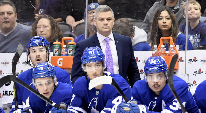 The Sheldon Keefe era is off to a roaring start. (Nathan Denette/The Canadian Press via AP)