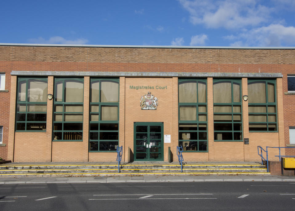 The main entrance to the Swindon Magistrates Court in Swindon, Wiltshire.