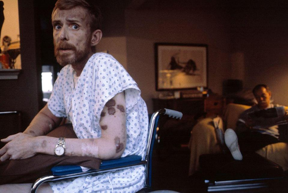 <p>1986. Ken Meeks sits in his apartment in San Francisco, California, three days before his death from AIDS.</p>