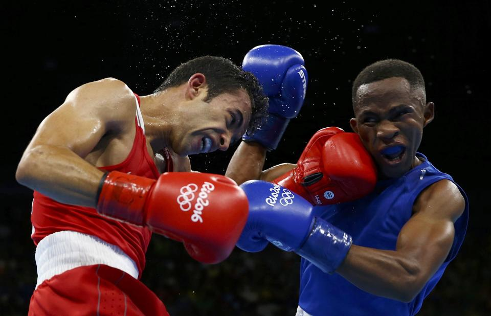 For the first time since 1980, Olympic boxers are not wearing headgear. (REUTERS)