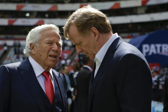Commissioner Roger Goodell and the NFL are investigating a videotaping incident involving Robert Kraft's Patriots. (AP Photo/Rebecca Blackwell, File)