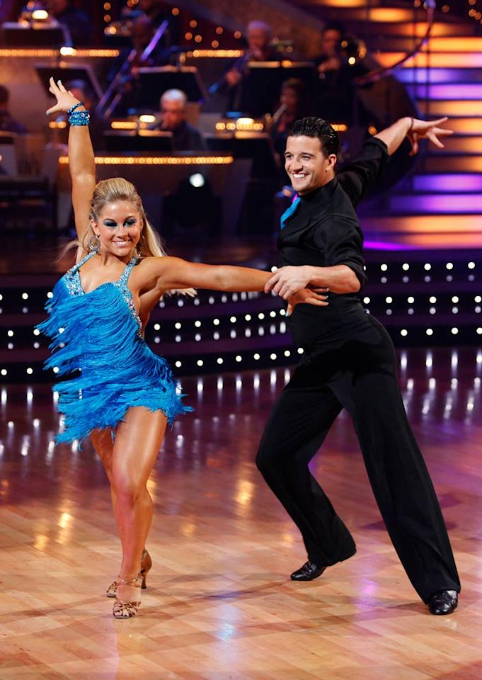 """Shawn Johnson and Mark Ballas perform the Samba to """"Get Down On It"""" by Kool and the Gang on """"Dancing with the Stars."""""""