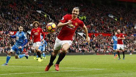 Manchester United's Zlatan Ibrahimovic in action