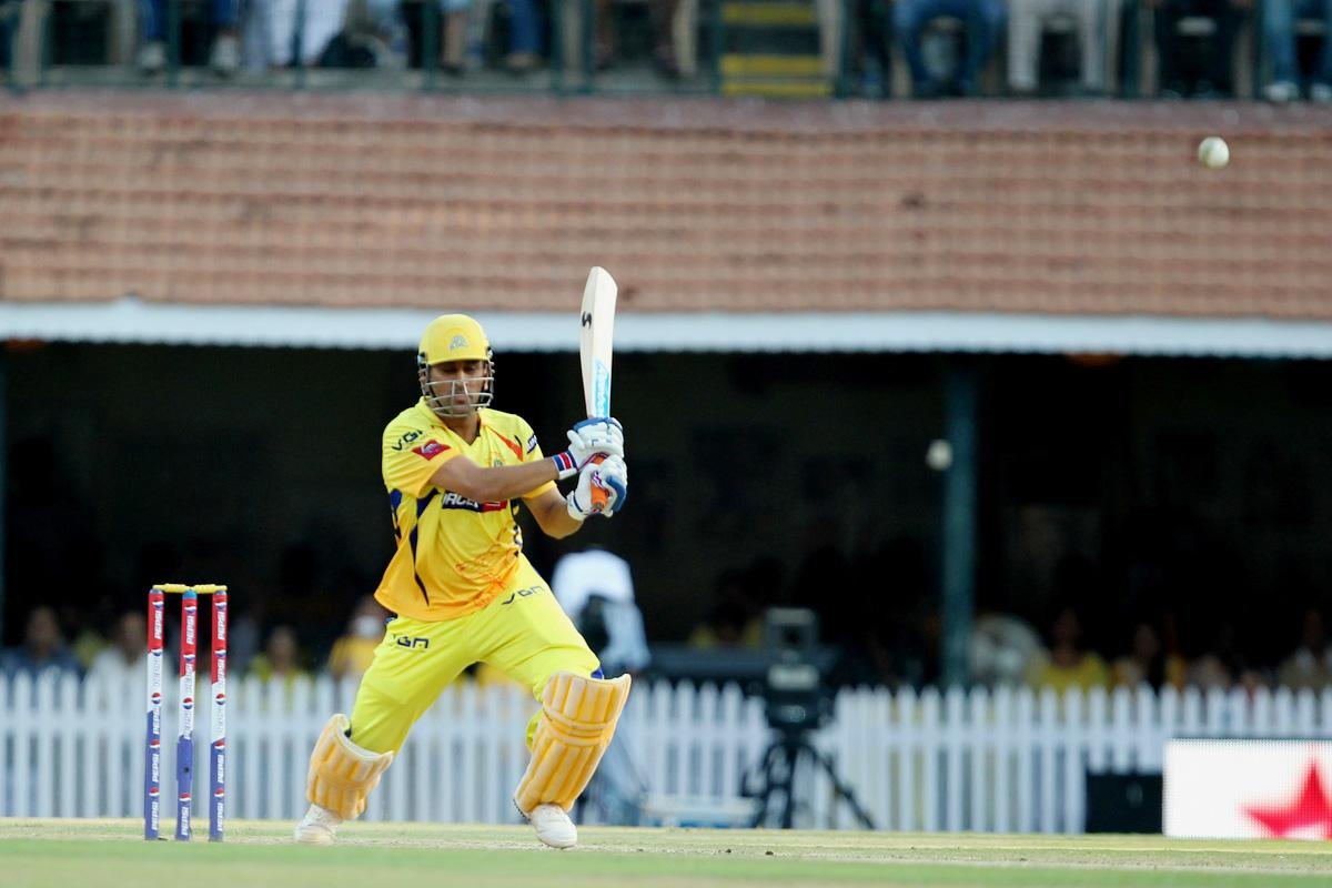 Mahendra Singh Dhoni during match 38 of the Pepsi Indian Premier League between The Chennai Superkings and the Kolkata Knight Riders held at the MA Chidambaram Stadiumin Chennai on the 28th April 2013. (BCCI)