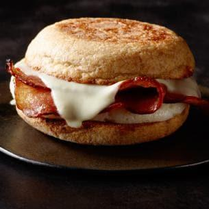 <p>Reduced-fat turkey bacon, cage-free egg whites and reduced-fat white cheddar cheese on an organic wheat English muffin; Starbucks' lowest-calorie sandwich option — and still delicious! <br /> — Calories: 230 <br /> — Fat: 6 g (Saturated Fat 2.5 g) <br /> — Sodium: 540 mg <br /> — Carbohydrates: 28 g <br /> — Sugar: 3 g <br /> — Source/Photo: Starbucks Canada </p>