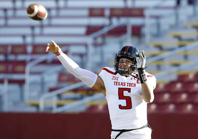 Texas Tech QB Patrick Mahomes has a tremendous arm but needs work. (AP)