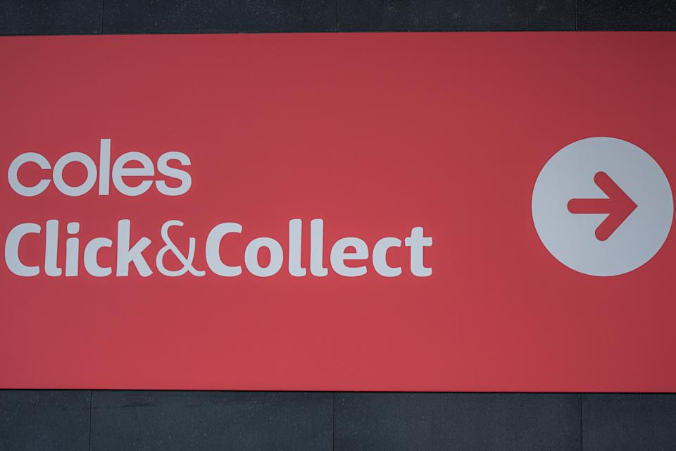 Digital Signage for Coles supermarkets online service ''Click&Collect ''