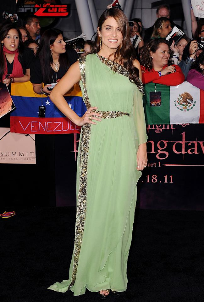 """<a href=""""http://movies.yahoo.com/movie/contributor/1808459018"""">Nikki Reed</a> at the Los Angeles premiere of <a href=""""http://movies.yahoo.com/movie/1810158314/info"""">The Twilight Saga: Breaking Dawn - Part 1</a> on November 14, 2011."""