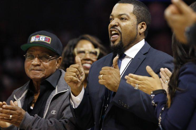 Ice Cube gives his own BIG3 basketball league two enthusiastic thumbs up. (AP)